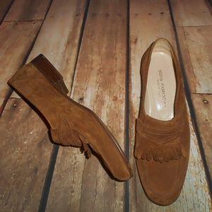 964ef2cabe7 Gravati Silvia Fiorentina Leather Loafers Size 9